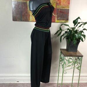 VENUS colorful stitch tube top romper cinch waist